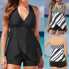 New Womens Tankini Sets Boy Shorts Ladies Swimwear Plus Size Two Piece Swimsuits