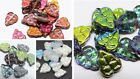 11MM  CZECH GLASS PRESSED LEAF DROP BEADS FOR JEWELLERY MAKING -  (20PCS)
