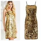 Stacey Solomon@Oli~ Gold Sequin Party Cami Dress Sizes 12-14-16 ~RRP £89~(R21)