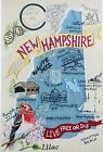 STATE OF NEW HAMPSHIRE BIRD FLOWER CITIES MACHINE EMBROIDERED QUILT BLOCK (HP)
