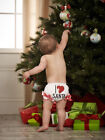 Mud Pie Baby I LOVE SANTA BLOOMER Holiday Collection New