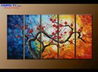 Large Framed Abstract Flower Oil Painting Art Wall Modern Decor on Canvas FY3658