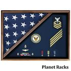 Planet Racks 5 ft x 9 ft  Flag Case Folded Corner - Service Uniform Fabric Back