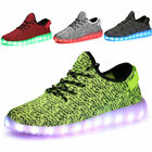 Unisex Women Men 7 Color USB LED Light Up Shoes Lace Up Casual Luminous Sneakers