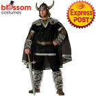 CA69 Designer Elite Viking Costume Mens Nordic Medieval Warrior Barbarian Outfit