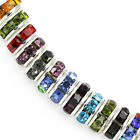Rhinestone Crystal Rondelle Spacer Beads Silver Plated For Jewellery Making Aaa