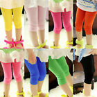 Kids Girl Child Stretch Slim Skinny Pants Tight Leggings Trousers For Age 7-12