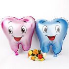 Smile Tooth Foil Balloons Birthday Party Decorations Kids Wedding Xmas Supplies