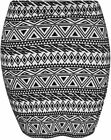 NEW Bang on the Trend Aztec Print Jersey Mini Tube Short Skirt S/M to XXL 8-20