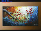 Modern Original Abstract Oil Painting Canvas Wall Art Decor Plum Blossom FY3652