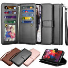 For LG G7 ThinQ / LG G7 Leather Wallet Credit Card Holder Flip Stand Case Cover