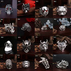 Fashion Men's Stainless Steel Silver Cool Gothic Punk Finger Rings Jewelry
