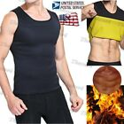 US Men's Vest Top Sportwear Body Fat Burner Sauna Ultra Swea