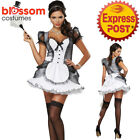 CA706 Luxe French Maid Outfit Fancy Party Dress Up Costume Bucks Hens Uniform