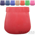 Ladies / Womens Leather Prime Hide Push Clip Frame Money / Coin Purse / Pouch