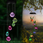 Color-Changing LED Hummingbird Seashell Solar Wind Chimes Yard Home Garden Decor