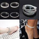 5 Rows Rhinestone Stretch Wedding Bridal Women Anklet Bracelets Ankle Foot Chain