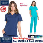Внешний вид - Cherokee Scrubs Set PROFESSIONAL Uniform V-Neck Top & Cargo Pant(WW665/WW170)_R