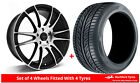 Alloy Wheels & Tyres 8.0x18 GEN2 Maven Black Polished Face + 2253518 Tyres