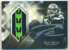 RUSSELL WILSON 2015 TOPPS DIAMOND AUTOGRAPH 2 COLOR LOGO PATCH AUTO SP #/35 $300