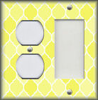 Metal Light Switch Plate Cover Ombre Decor Moroccan Design Yellow Shades
