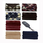 Sunbeam Microplush Electric Heated Throw Blankets TB16 - Assorted Colors image