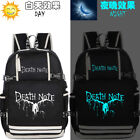 Death Note Ryuuku Luminous Backpack Kids Schoolbag USB charging Port Laptop Bag