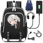 Mystic Messenger 707 Zen Rucksack USB charging Port kids school bag Laptop Bags