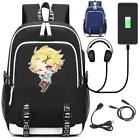 Mystic Messenger 707 Zen Rucksack USB charging Port kids school bag Lapt
