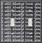 Metal Light Switch Plate Cover I Will Always Love You Decor Blackboard Design