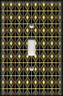 Metal Light Switch Plate Cover Art Deco Home Decor Black And Gold Art Decor 02