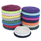 """Premium Super Soft Colored Twisted Cotton Rope - 1/2"""" Diameter, Multiple Lengths"""