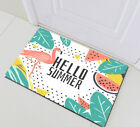 """72X72"""" Tropical Leaves Watermelon and Pink Flamingo Shower Curtain Set Summer"""