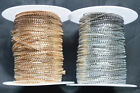 Silver Gold Flat Curb Link String Cord Wire Necklace Chain Crafts Jewellery DIY