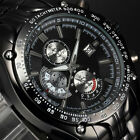 Luxury Deluxe Men's Auto Date Display Stainless Steel Band Sport Wrist Watch Li