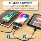 Qi Wireless Charger 15000mAh Power Bank 2 USB For Samsung Galaxy S9/ S9+ Plus