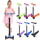 3 in 1 Kick Push Scooter Toddler Adjustable Kick Kids Scooter w/ Flashing Wheel