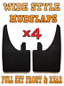 4x WIDE Rubber Mud Flaps FRONT & REAR Mudflaps Universal Fits Truimph