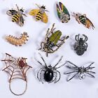 Fashion Animal Insect Bee Spider Pearl Crystal Brooch Pin Women Men Jewelry Gift image