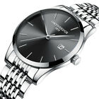 Luxury Mens Watch Ultra Thin Casual Analog Quartz Steel Strap Wristwatch image