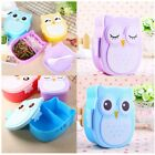 Portable Cartoon Owl Lunch Box Food Container Storage Bento For Children Kids
