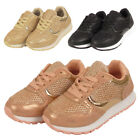 GIRLS SCHOOL SHOES INFANT KIDS CHILDREN LACE UP LIGHTWEIGHT SPORTS TRAINERS SIZE