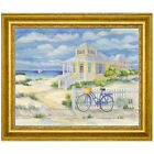 Canvas Art USA 'Beach Cruiser Cottage II' by Paul Brent Framed Painting Print