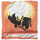 East Urban Home Abstract Birds at Sunset Vector Drawing Blanket
