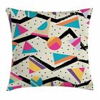 East Urban Home 80s Funky Memphis Fashion Square Cushion Pillow Cover