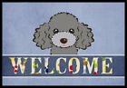 Caroline's Treasures Silver Gray Poodle Welcome Doormat