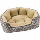 Ethical Pet Sleep Zone Chevron Step in Scallop Bolster Dog Bed