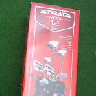 Callaway Strata Men's 12 pc Complete Set with Golf Bag Right & LEFT Hand - NEW