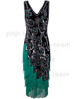 1920s Vintage Costume Flapper Gatsby Wedding Party Layered Tassel Cocktail Dress