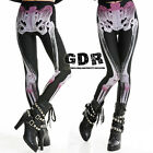 PUNK gothic Purple Lolita LAYER BLack Leggings